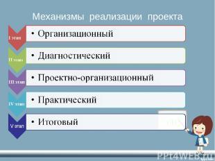 Механизмы реализации проекта