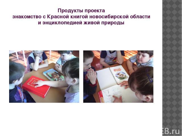 Продукты проекта знакомство с Красной книгой новосибирской области и энциклопедией живой природы