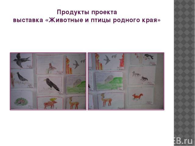 Продукты проекта выставка «Животные и птицы родного края»