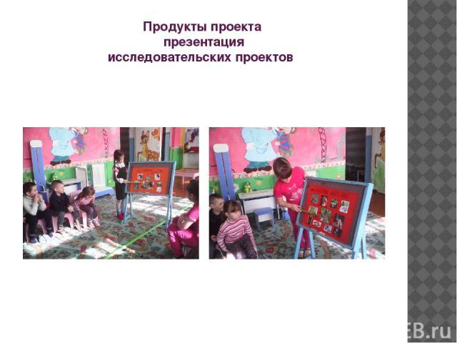 Продукты проекта презентация исследовательских проектов