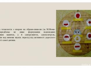 Педагогічна технологія з опорою на образи-символи (за М.Фоми-човою) передбачає н