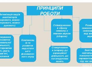 ПРИНЦИПИ РОБОТИ Активізація видів аналізаторів (зорового, мовно-слухового, мовно
