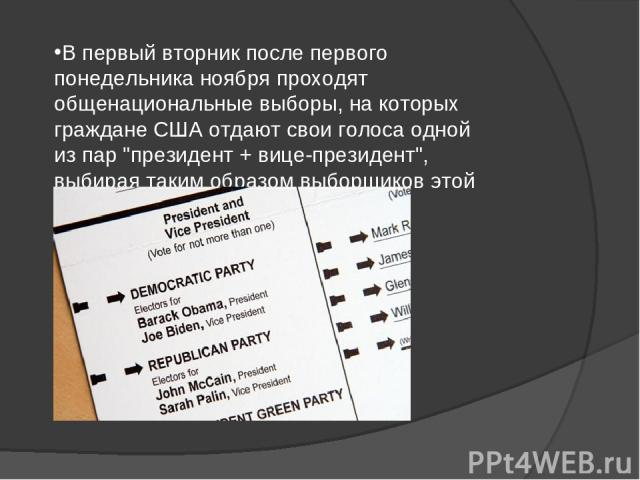 Презентацию на тему выборы в сша