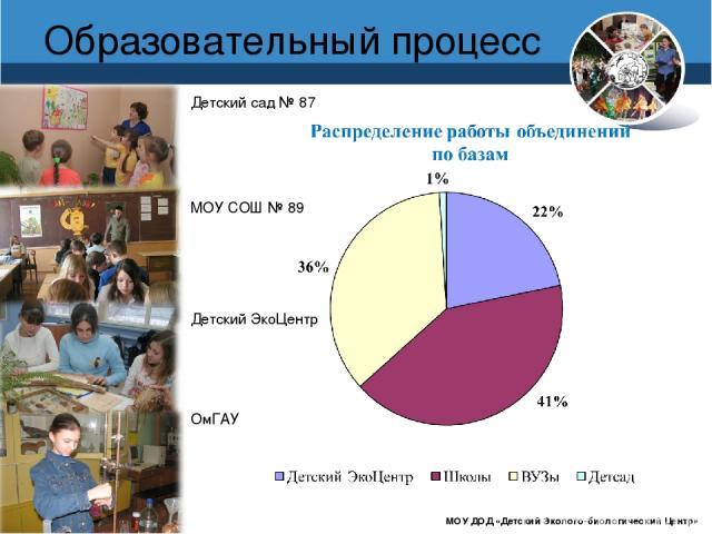 www.debcomsk.ru Образовательный процесс МОУ ДОД «Детский Эколого-биологический Центр» Детский сад № 87 МОУ СОШ № 89 Детский ЭкоЦентр ОмГАУ