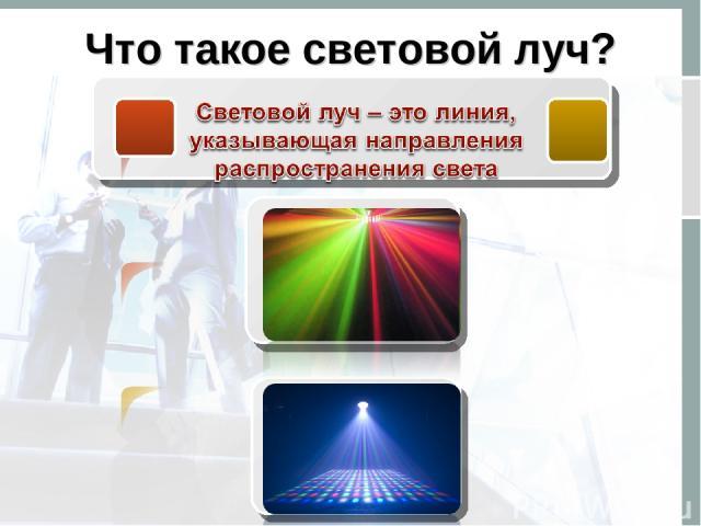 Что такое световой луч?