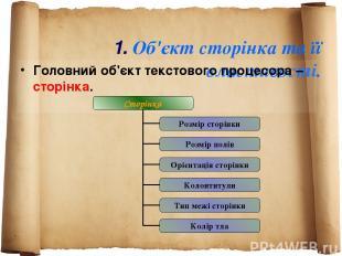 1. Об'єкт сторінка та її властивості. Головний об'єкт текстового процесора – сто