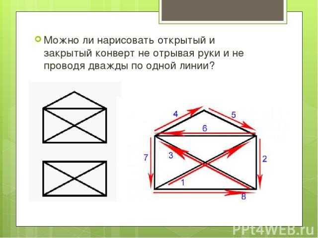 Как нарисовать закрытой конверт одной линией