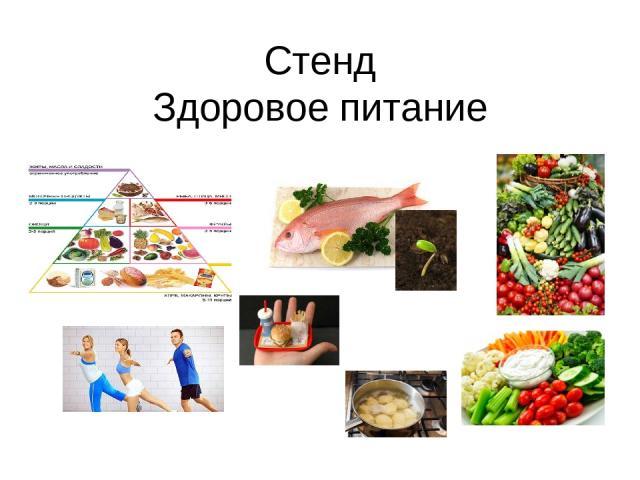 стенд правильного питания