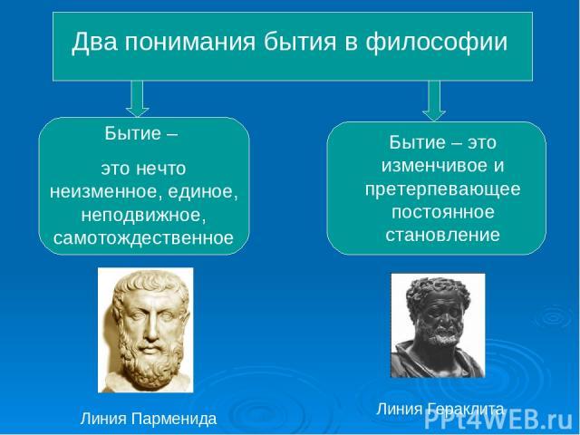 Бытие одна из центральных категорий в философии