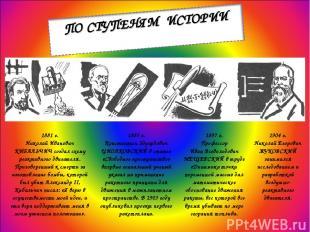 1881 г. Николай Иванович КИБАЛЬЧИЧ создал схему реактивного двигателя. Приговоре