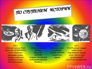 1925 г. Советский инженер Юрий Васильевич КОНДРАТЮК создал интересные конструкци