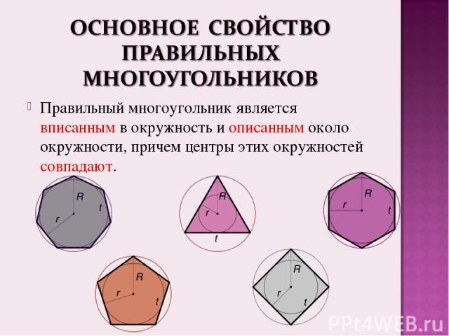 Геометрия правильные многоугольники - презентация по Геометрии