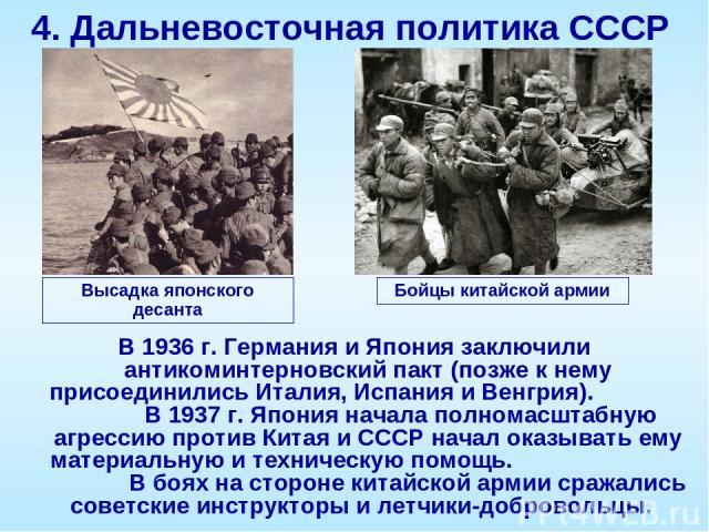 Очаги военной напряжённости 1936 -антикоминтерновский пакт ( германия, япония) 1937