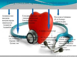 Гипертониялық криздің классификациясы Асқынуы мен нысанды иһмүшелердің зақымдалу