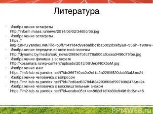 Литература Изображение эстафеты http://inform.miass.ru/news/2014/06/02/34850/35.