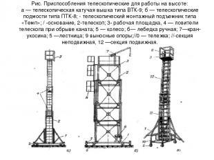 Рис. Приспособления телескопические для работы на высоте: а — телескопическая ка