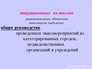 эвакуационные комиссии территориальные, объектовые, министерств (ведомств) общее