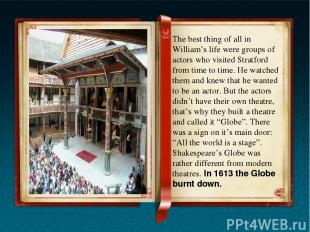 In 1949 an American actor Sam Wanamaker decided to rebuilt the Globe. It took ma