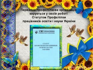 Первинна профспілкова організація керується у своїй роботі Статутом Профспілки п