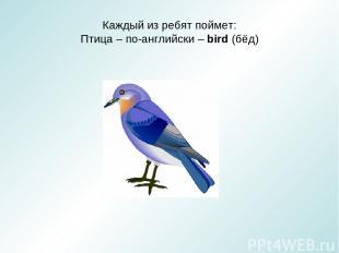 Каждый из ребят поймет: Птица – по-английски – bird (бёд)
