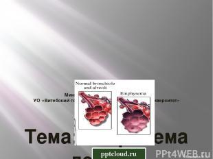 Министерство здравоохранения РБ УО «Витебский государственный медицинский универ
