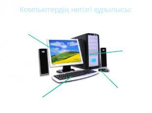 Компьютердің негізгі құрылысы: Монитор Пернетақта Жүйелік блок Тінтуір