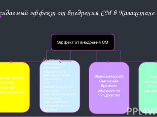 Ожидаемый эффект от внедрения СМ в Казахстане Эффект от внедрения СМ Управленчес