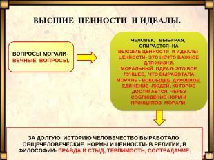 ВЫСШИЕ ЦЕННОСТИ И ИДЕАЛЫ. evg3097@mail.ru ВОПРОСЫ МОРАЛИ- ВЕЧНЫЕ ВОПРОСЫ. ЧЕЛОВЕ
