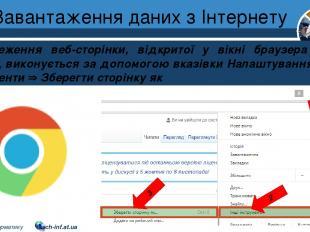 Завантаження даних з Інтернету Розділ 2 § 9 Збереження веб-сторінки, відкритої у