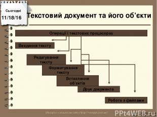 Сьогодні http://vsimppt.com.ua/ http://vsimppt.com.ua/ Операції і текстових проц