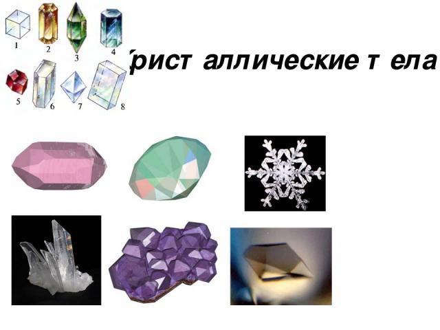 Кристаллические тела