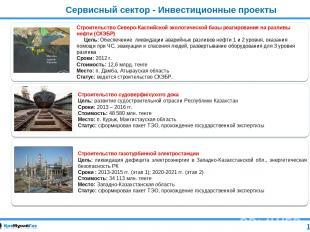 Сервисный сектор - Инвестиционные проекты Строительство газотурбинной электроста
