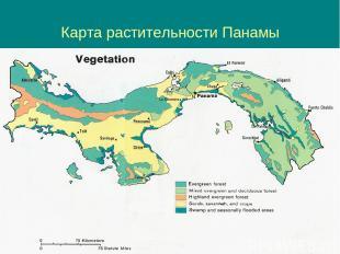 Карта растительности Панамы