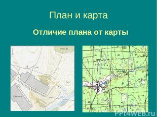 План и карта Отличие плана от карты