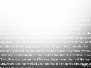 "Rhythmic gymnastics in Yakutia. ""The director Nina Krasavina has made the strong"