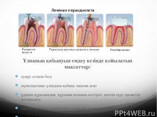 Ұлпаның қабынуын емдеу кезінде қойылатын мақсаттар: ауыру сезімін басу мүмкіндіг