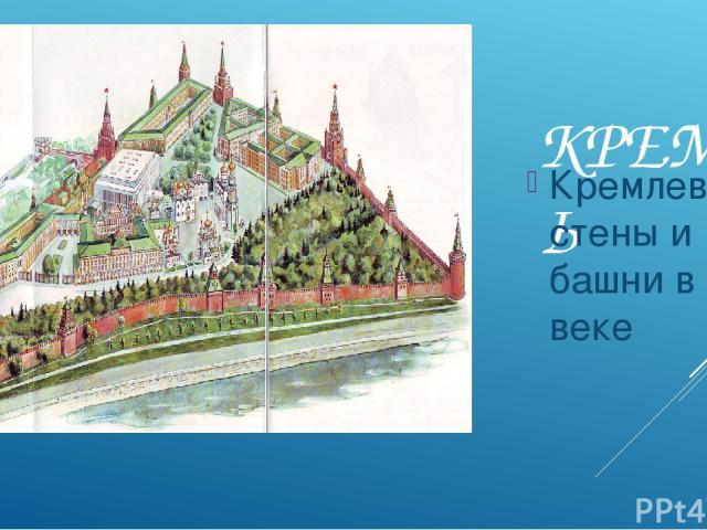 КРЕМЛЬ Кремлевские стены и башни в 16 веке