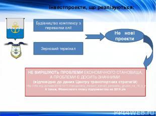 Інвестпроекти, що реалізуються: Будівництво комплексу з перевалки олії Зерновий