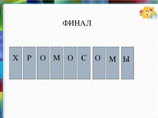 Х О М О Р Ы М О С ФИНАЛ