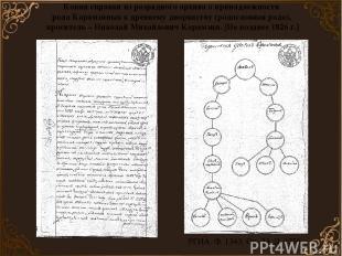 Копия справки из разрядного архива о принадлежности рода Карамзиных к древнему д