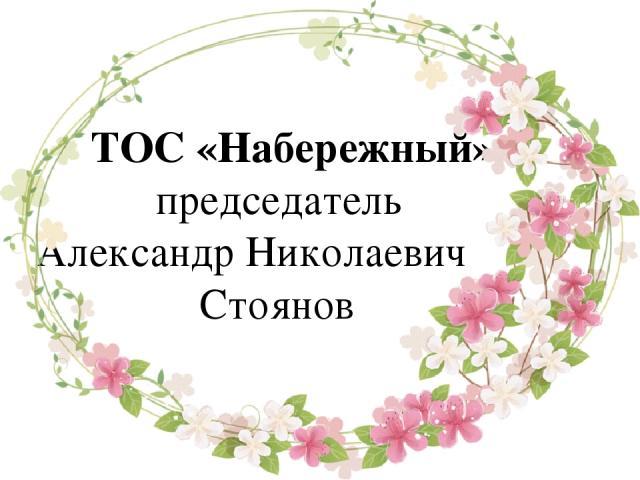 ТОС «Набережный», председатель Александр Николаевич Стоянов