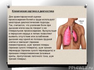 Клиническая картина и диагностика Для ориентировочной оценки происхождения болей