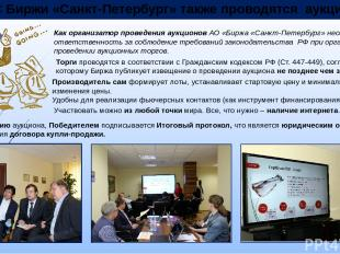 В ЭС Биржи «Санкт-Петербург» также проводятся аукционы Производитель сам формиру