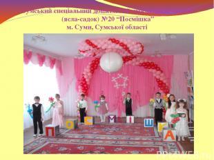 """Сумський спеціальний дошкільний навчальний заклад (ясла-садок) №20 """"Посмішка"""" м."""