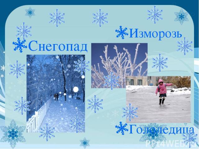 Снегопад Изморозь Гололедица