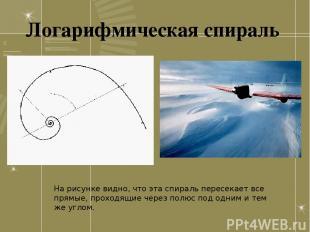 На рисунке видно, что эта спираль пересекает все прямые, проходящие через полюс