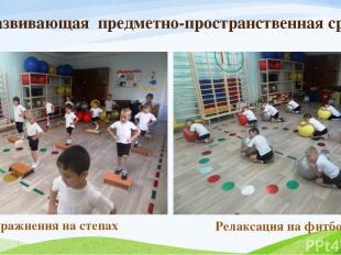 Развивающая предметно-пространственная среда Упражнения на степах Релаксация на
