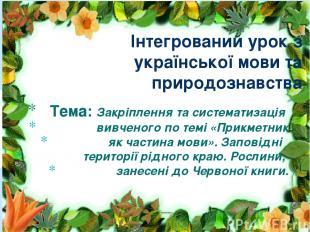 Тема: Закріплення та систематизація вивченого по темі «Прикметник як частина мов