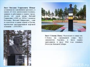 Бюст Виталию Генриховичу Шмидт установлен на одноимённом проспекте, в память об