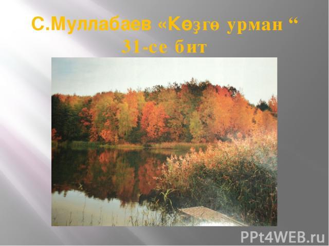 "С.Муллабаев «Көҙгө урман "" 31-се бит"